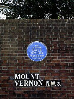 Photo of Henry Hallett Dale blue plaque