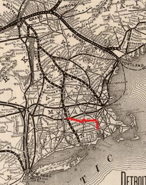 Southern New England Railway - Map