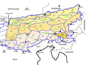 Carinthian-Slovenian Alps - Image: SOIUSA Alpi Orientali sezione 35