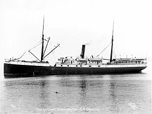 SS Valencia - Image: SS Valencia Side