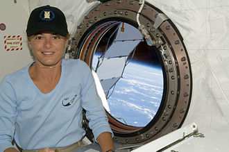 Julie Payette - Payette aboard the Space Shuttle ''Endeavour'' during STS-127
