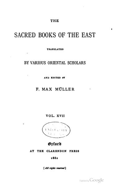 File:Sacred Books of the East - Volume 17.djvu