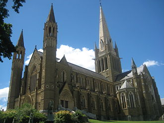Bendigo - Sacred Heart Cathedral is Bendigo's tallest building and a major landmark of the CBD