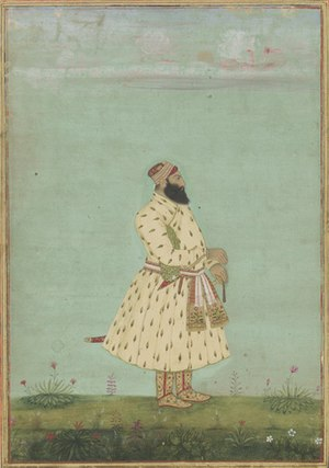 Nawab of Awadh - Image: Safdarjung, second Nawab of Awadh, Mughal dynasty. India. early 18th century