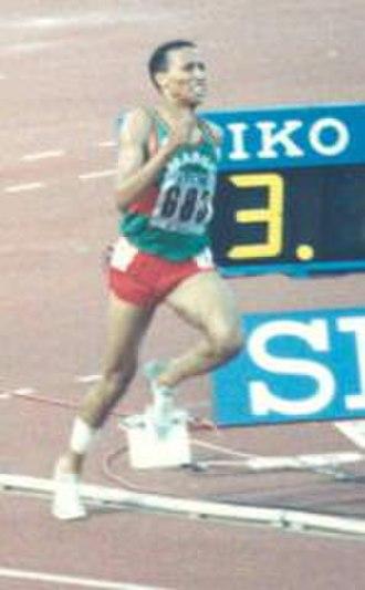 Saïd Aouita - Aouita at the 1987 World Championships