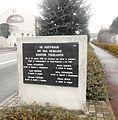 Saint-Chamond (Loire), rue Pétin-Gaudet, plaque commémorative du sabotage de janvier 1944.jpg