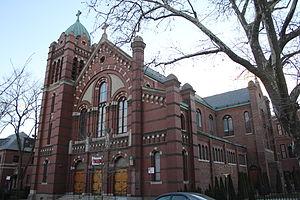 Saint Benedict Joseph Labre Church (Queens) - Facade from 118th Street