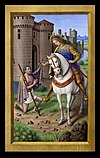 Saint Martin of Tours from the Grandes Heures of Anne of Brittany.