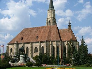 Hungarians in Romania - Image: Saint Michael Church in Cluj Napoca
