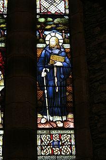 San Columba di Iona - vetrata della cattedrale di santa Brigida a Kildare