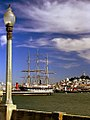 San Francisco - Balclutha Ship & Coit Tower from Municipal Pier (1028298976).jpg