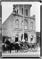 San Joaquin Firehouse, taken ca. 1880 - Stockton, Historic View, Stockton, San Joaquin County, CA HABS CAL,39-STOCK,29-9.tif