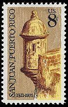 San Juan 1971 U.S. stamp.1