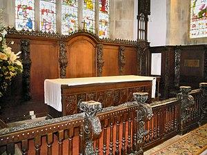 Church of St Leonard, Old Warden - The Sanctuary in St Leonards