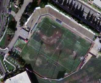 Stevens Stadium - Buck Shaw Stadium in 2003 from above.