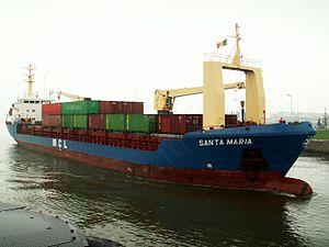 Santa Maria - IMO 8415160, at the Berendrecht lock, Antwerp 27-Jul-2005.jpg
