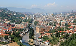 Federation of Bosnia and Herzegovina - Image: Sarajevo City Panorama