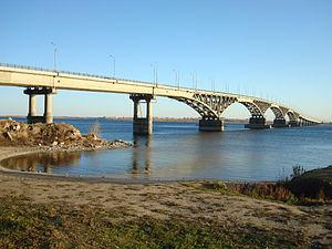 Saratov Bridge - Saratov bridge used to be the longest in the Soviet Union