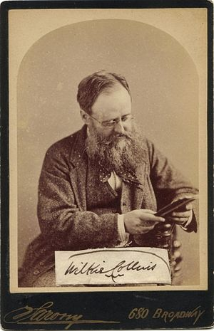 Wilkie Collins - Photograph by Napoleon Sarony, 1874