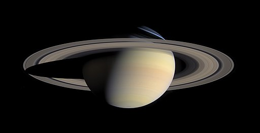 Saturn from Cassini Orbiter (2004-10-06)