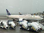 Saudi Arabian Boeing 777 aircraft at Mumbai airport.jpg