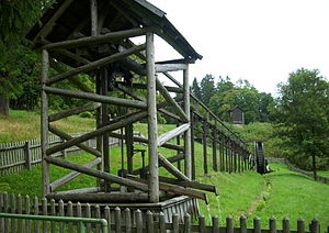 Flatrod system - Replica of the flatrod system at the Carler Teich, Clausthal-Zellerfeld