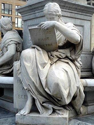 Schiller Monument (Berlin) - Image: Schillerdenkmal Berlin, Begas, Allegorie Geschichte