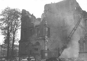 Brunswick Palace - Abbrucharbeiten 1960