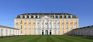 Augustusburg and Falkenlust Palaces, Brühl - The Western Facade of Schloss Augustusburg