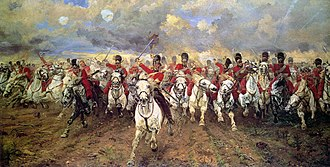 2nd Cavalry Brigade (United Kingdom) - Charge of the Scots Greys at Waterloo.