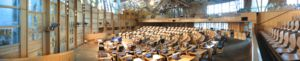 Enric Miralles - Debating chamber of the Scottish Parliament