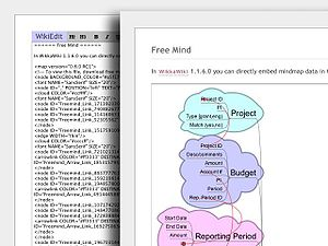 Mindmap support (based on Freemind) in WikkaWi...