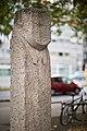 Sculpture Drei Muschelkalkstelen Ulrike Enders Berliner Allee Hanover Germany 01.jpg