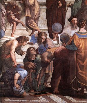 Quadratic formula - Euclid in Raphael's School of Athens