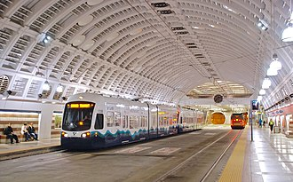 Downtown Seattle Transit Tunnel - Image: Seattle Pioneer Square Station July 2009