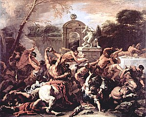 Painting by Sebastiano Ricci, of centaurs at t...