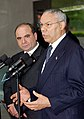 Secretary Powell with Prime Minister Zurab Zhvania of Georgia (April 26, 2004).jpg