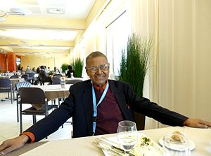 Arjun Kumar Sengupta - Arjun Sengupta at the UN Delegates' Restaurant in Geneva April 2010