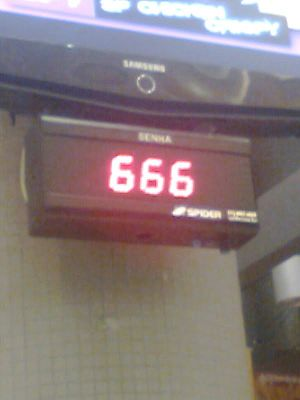 English: Display in airport showing Number of ...