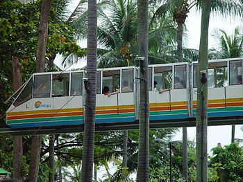 Old sentosa monorail