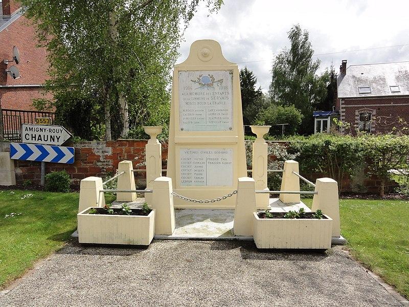 Servais (Aisne) monument aux morts