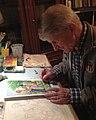 Severino Baraldi working on The Prophetic Tarot of the Bible.jpg