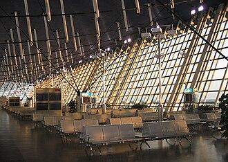 Shanghai Pudong International Airport - The interior of Terminal 1