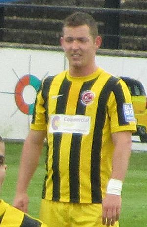 Shaun Beeley - Beeley playing for Fleetwood Town in 2012