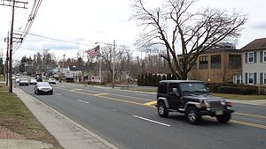 Shrewsbury, New Jersey - Route 35 is a main commercial thoroughfare for the borough.