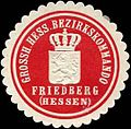 Siegelmarke Grossh. Hess. Bezirkskommando Friedberg (Hessen) W0285496.jpg