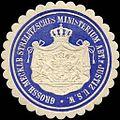 Siegelmarke Grossherzoglich Mecklenburgisch Strelitzsches Ministerium Abteilung für Justiz u. s. w. W0216165.jpg