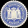 Siegelmarke Königliche Eisenbahn - Direktion - Stettin W0212689.jpg