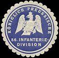 Siegelmarke K.Pr. 86. Infanteriedivision W0348257.jpg