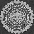 Siegelmarke K.Pr. Landrath des Kreises Uslar W0393792.jpg